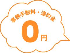 事務手数料・違約金 0円